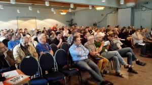 Deelnemers van de International Meteor Conference in de lezingzaal.